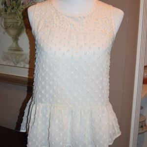 Monteau Swiss Dot top and lace top